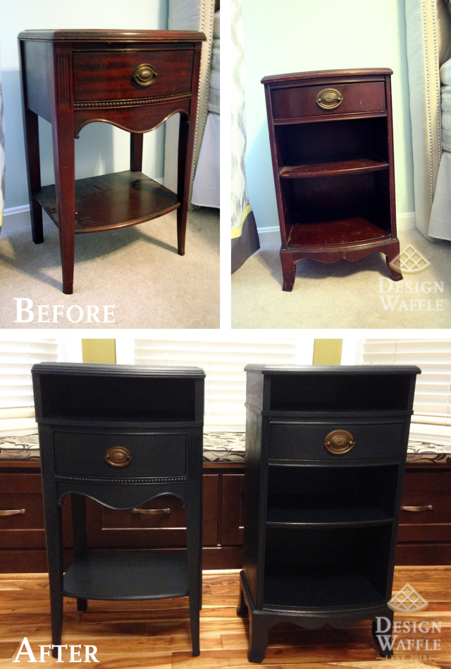 How To Make Nightstands Taller! For Our Mismatched Short Night Stands.