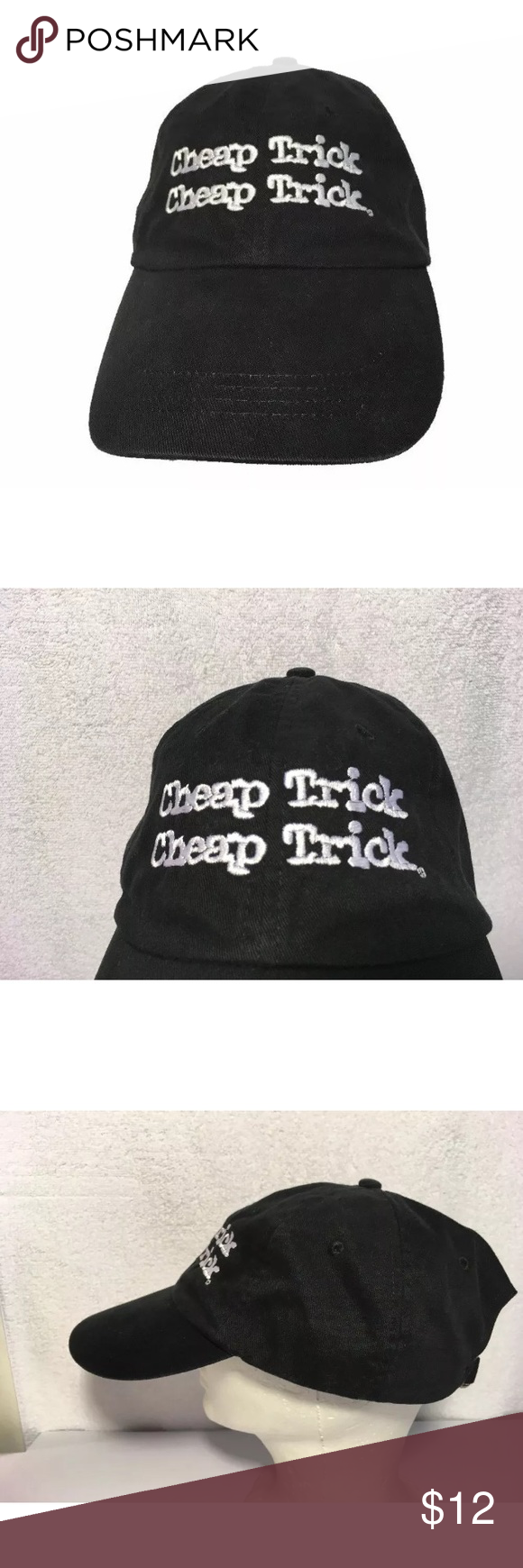 f20ed42acfd062 Cheap Trick Double Logo strap back Hat By Anvil Here's a very nice pre  owned Cheap