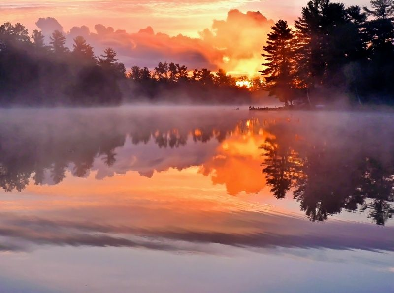 Look at the reflection of the whole scene on the water  #photographytalk #reflection