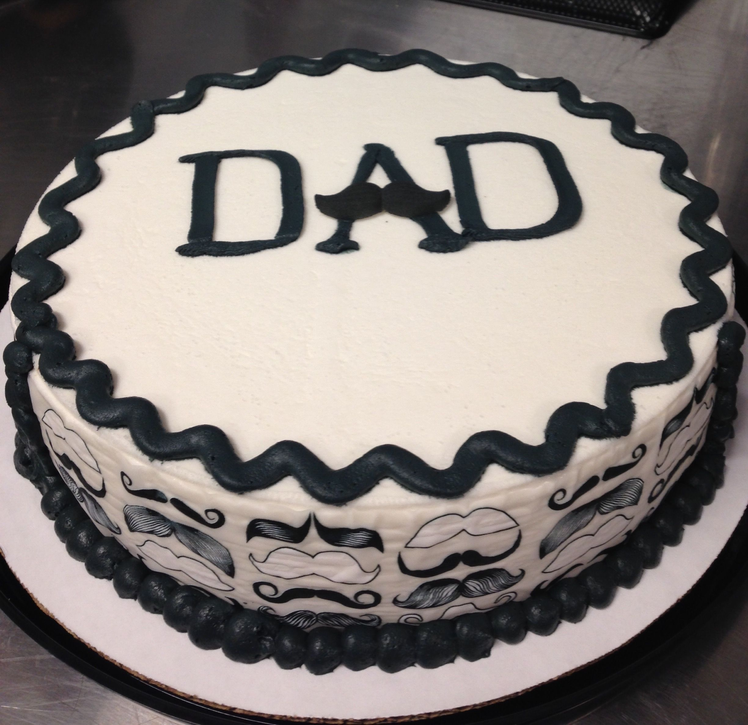 Mustache Dad Father S Day Ice Cream Cake At Dairy Queen
