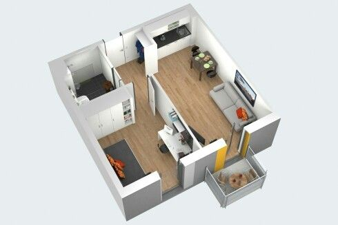Pin by Fon JS on 1 bedroom apartment floor plan Pinterest