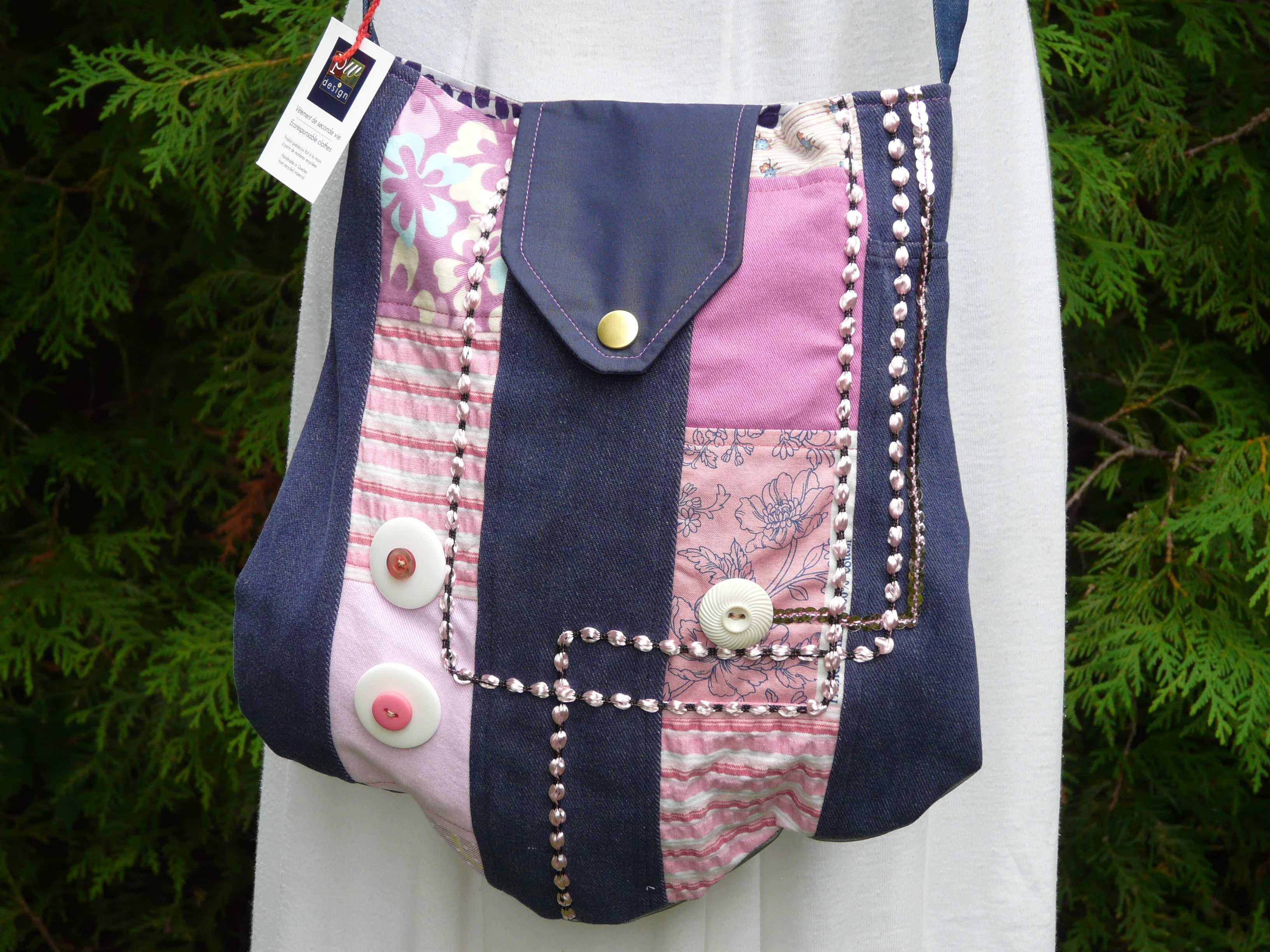 Handbag Made From Recycled Material Patchwork Design Company