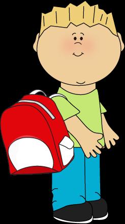 Boy Wearing A Backpack From Mycutegraphics Cartoon Clip Art School Clipart Clip Art