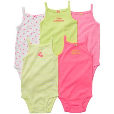 cd11cde06 Carter s® 5-pk. Tank Top Bodysuits - Girls newborn-24m - jcpenney ...