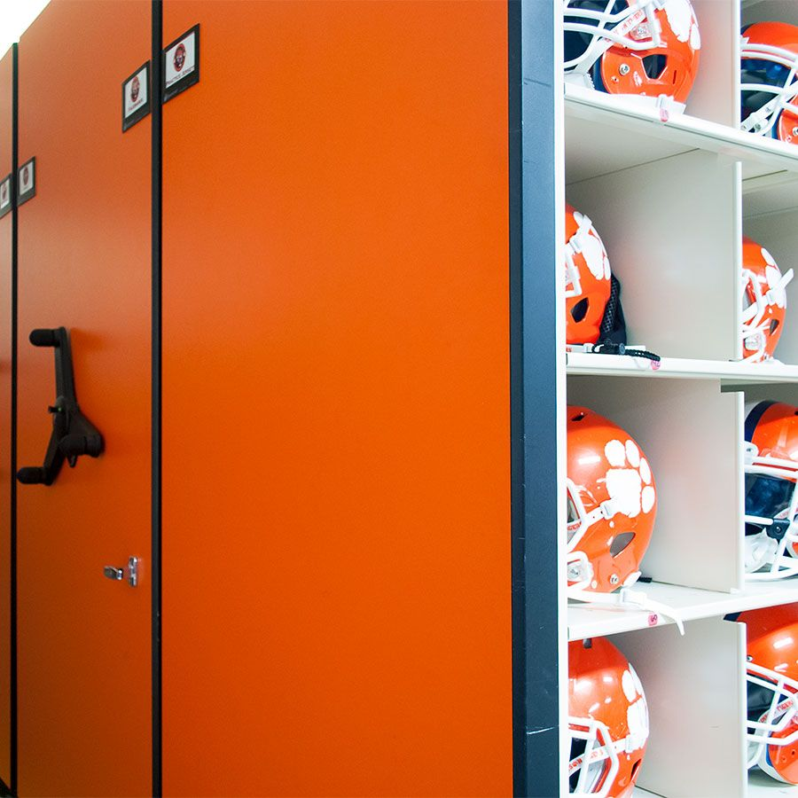 Football Helmet Storage For #Clemson #Tigers