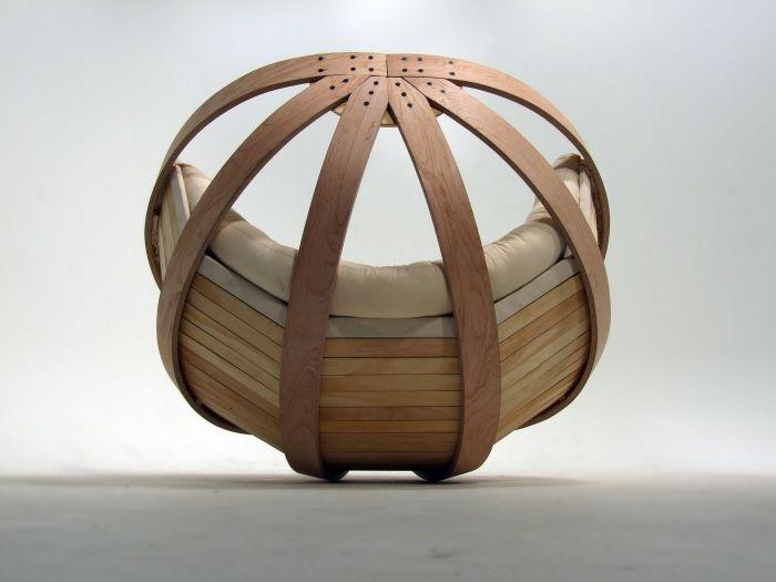 Ronde relaxing schommelstoel hout nikki pinterest chair