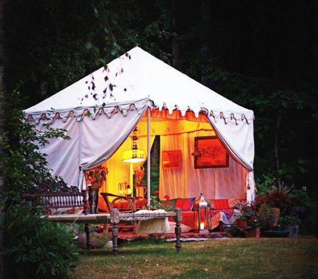 Italian Canvas Tent Veranda Decorated In Different Styles: Pergolas, Tents And Gazebo Roof