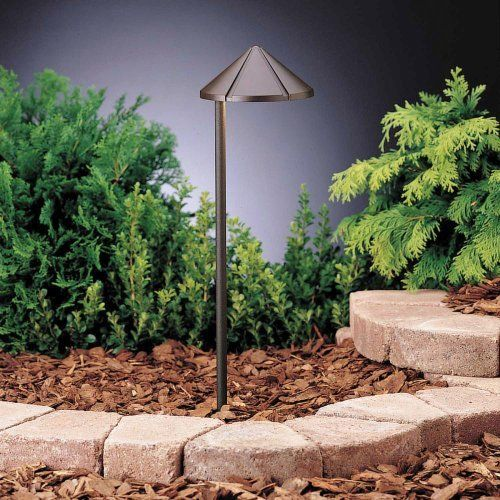Kichler Lighting 15315azt6 Side Mount 1 Light 12 Volt Path Spread Light Textured Architectural Bronze Outdoor Path Lighting Path Lights Landscape Lighting