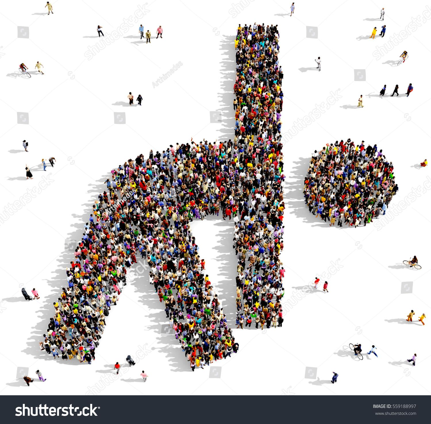 Large and diverse crowd of people seen from above gathered together to form a diagonal composition, 3d illustration\n #Ad , #AFFILIATE, #crowd#people#Large#diverse