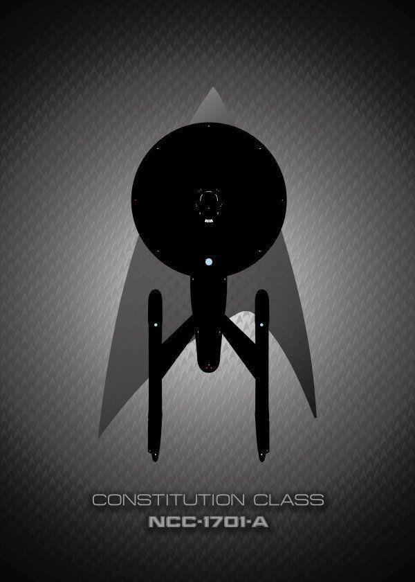 Star Trek Alpha Quadrant Starships Displate Posters