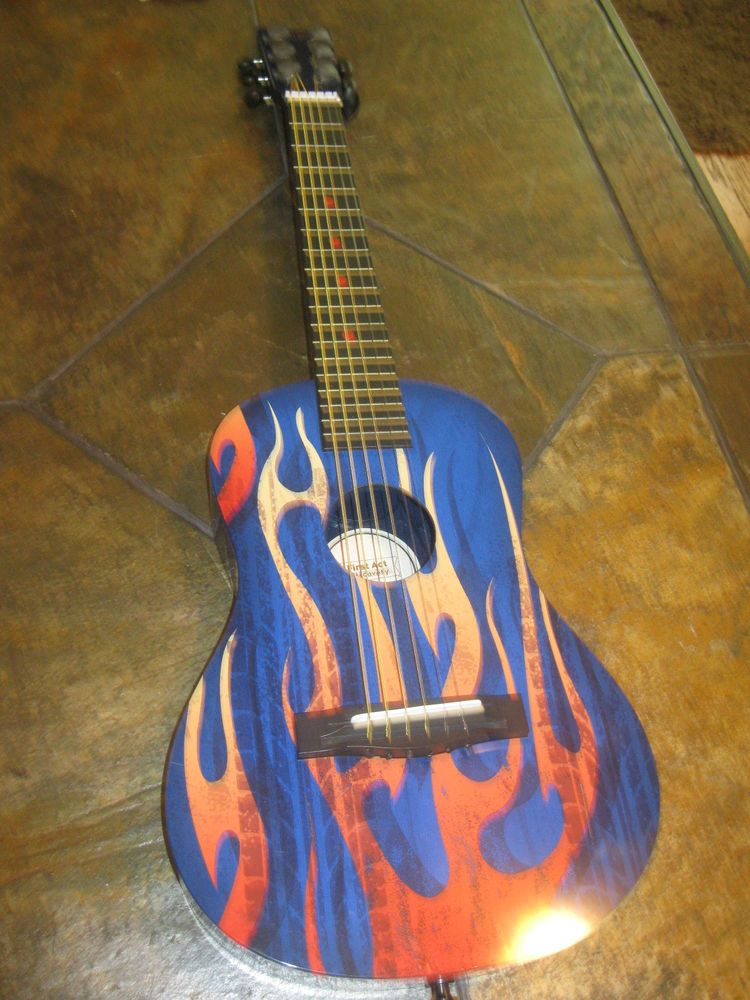 First Act Discovery Designer Acoustic Guitar Blue Fire Tire Guitar Acoustic Acoustic Guitar