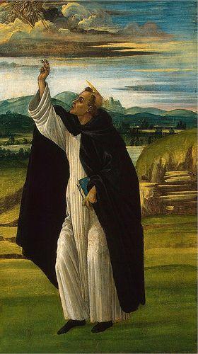 St Dominic - SANDRO BOTTICELLI, vero nome Alessandro di Mariano di Vanni Filipepi (Firenze, 1º marzo 1445 – Firenze, 17 maggio 1510)     #TuscanyAgriturismoGiratola