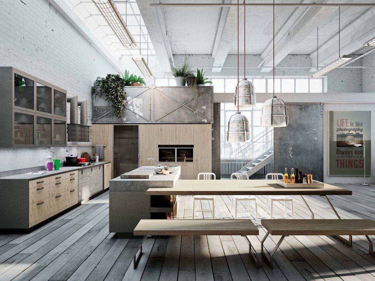 Industriele Keuken Industrial : Geef je huis een mannelijke look met deze industriële keukens. dit