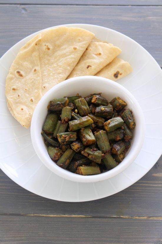 Achari bhindi recipe recipes okra and dried vegetables achari bhindi punjabi recipesgujarati recipesindian food forumfinder Choice Image