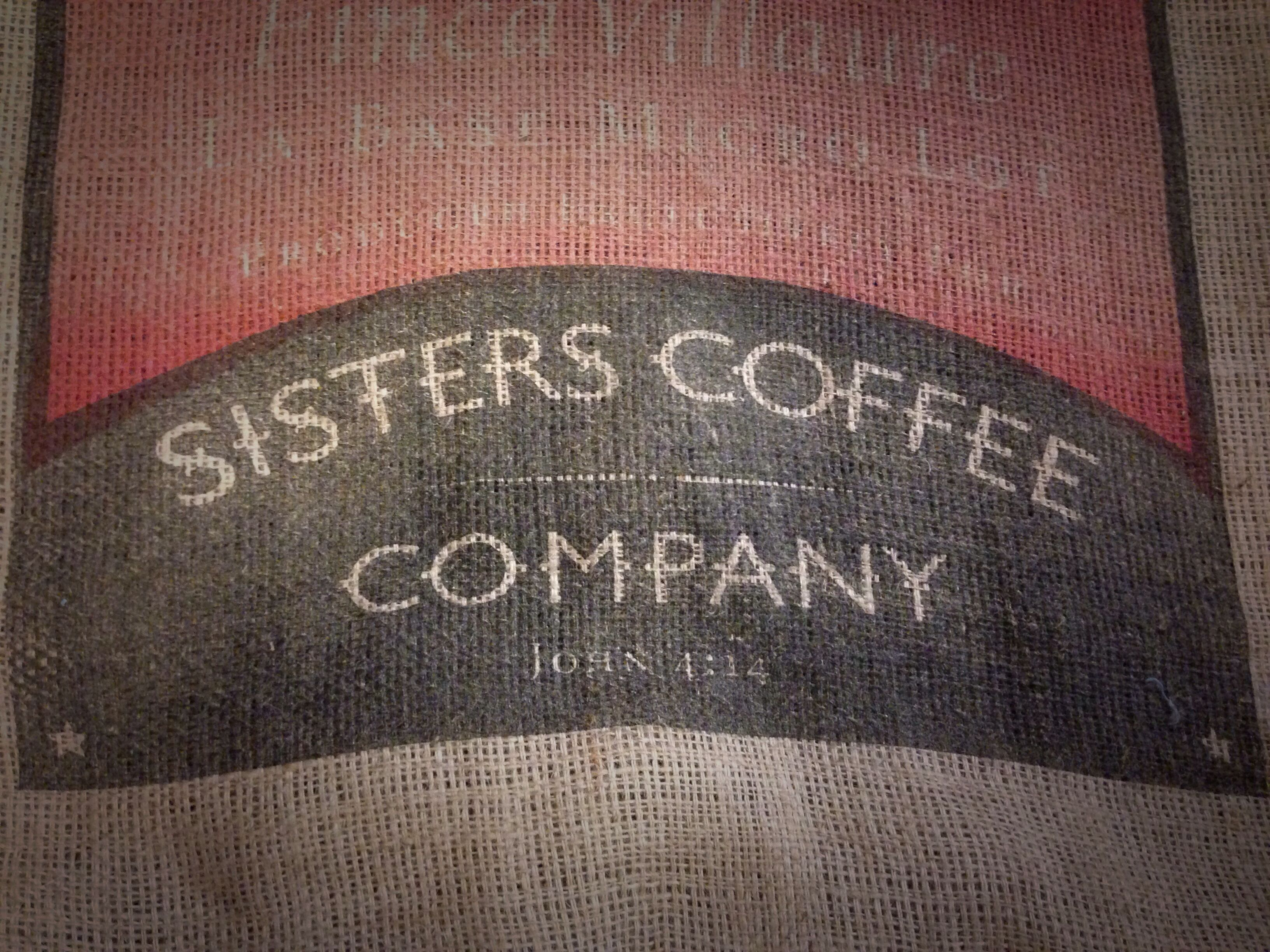 Been searching for this one ... finally found my favorite coffee shop's burlap sack. Sisters Coffee ... Yum!