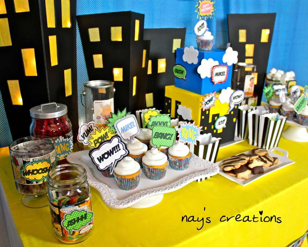 Comics Superhero Birthday Party Ideas | Photo 21 of 21 | Catch My Party