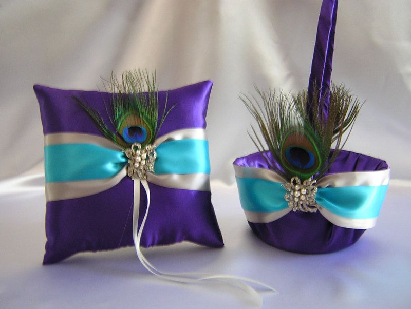 Turquoise And Purple Wedding Decorations