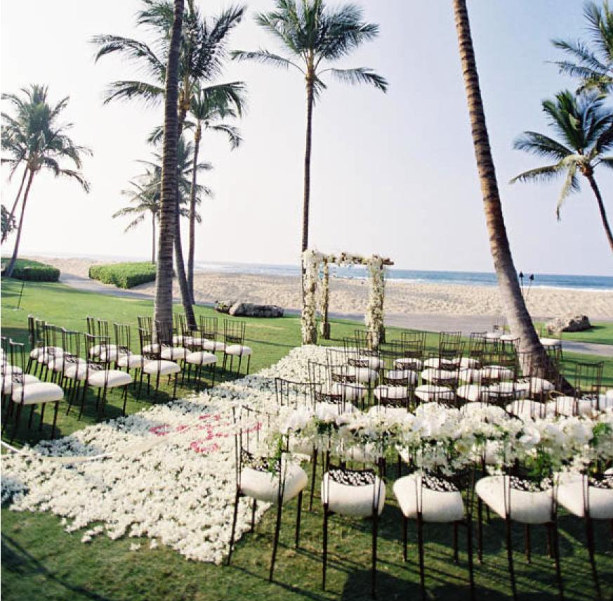 Places For Wedding Ceremony: Chic Beach Wedding Ceremony Ideas