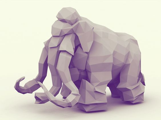 Low-Poly [Animal Kingdom] by Timothy J. Reynolds, via Behance: