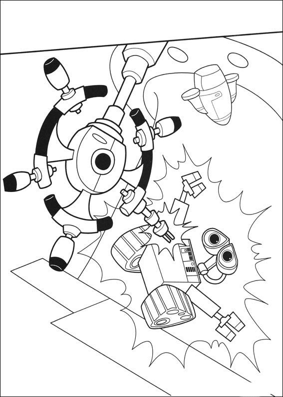 pincoloring on walle in 2020  coloring pages space