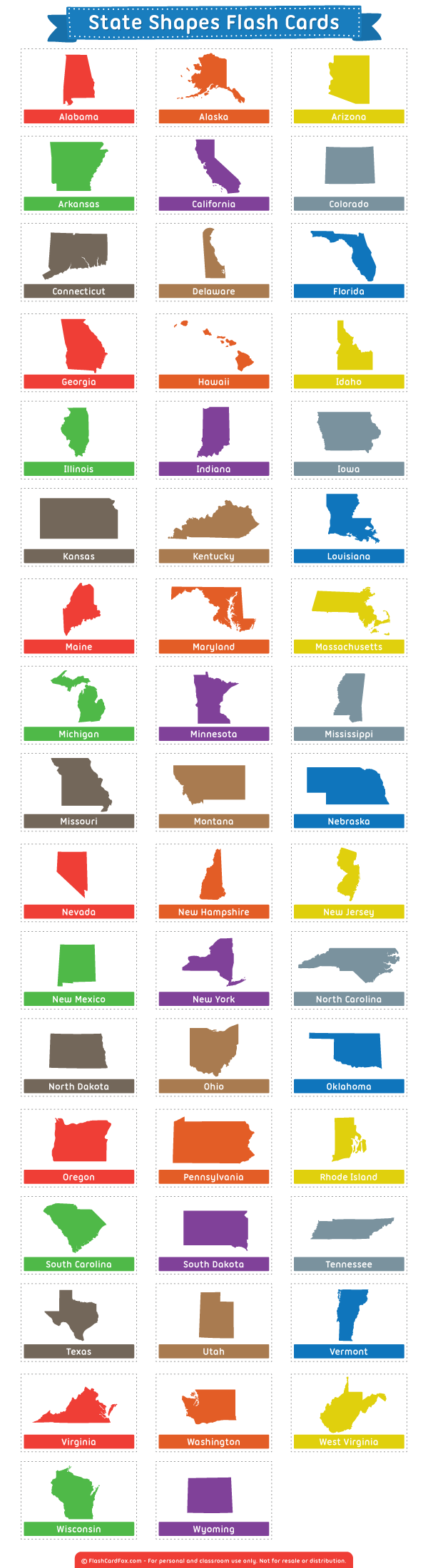 Free Printable State Shapes Flash Cards Download Them In Pdf Format At Http Flashcardfox Com Download State S Flashcards State Shapes Vocabulary Flash Cards