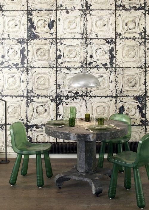 Vjeranski Tin Ceiling Tile Reuse Tile Wallpaper Tin Tiles Wallpaper Decor