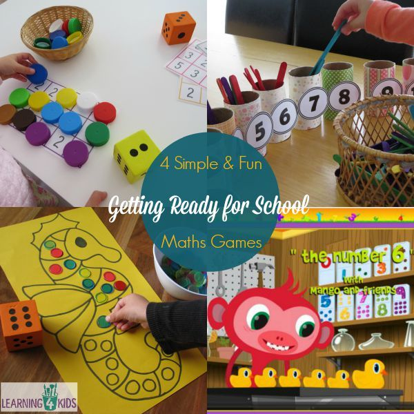4 Maths Activities for Getting Ready for School | Fun math games ...