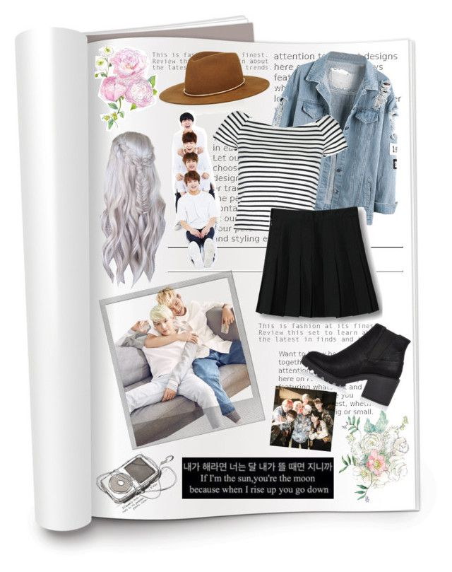 """""""Hanging Out with BTS😋"""" by b3autysou1 ❤ liked on Polyvore featuring Lipsy, WithChic, River Island, Janessa Leone and Polaroid"""