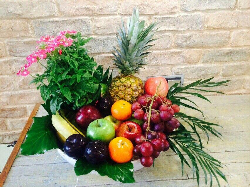 Cesta De Frutas Por Gadea Flores Vigo Fruit Displays Flower
