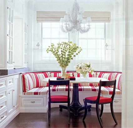 Banquetas en las esquinas: un comedor en la cocina | Kitchen ...