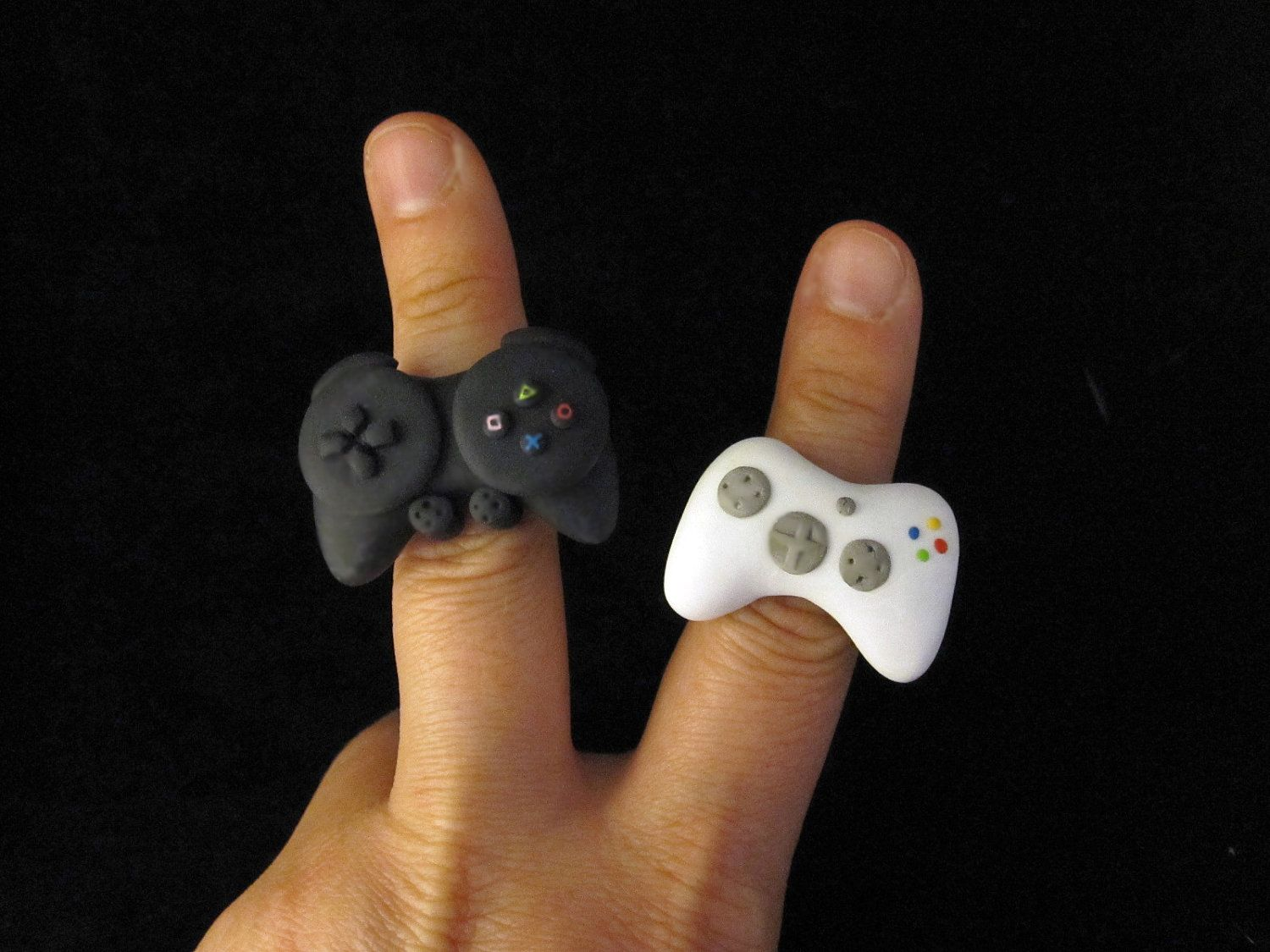 Xbox 360 Ps3 Controller Rings Video Game Controller Geeky Jewellery Xbox