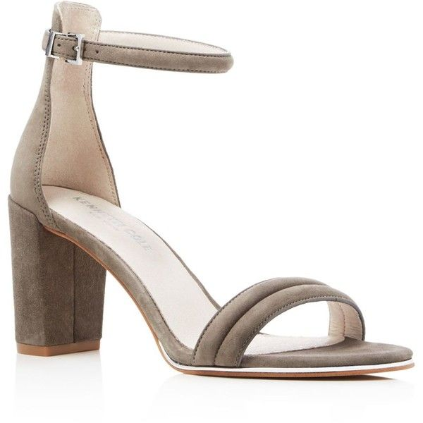 Kenneth Cole Lex Suede Ankle Strap High Heel Sandals ($140) ❤ liked on  Polyvore