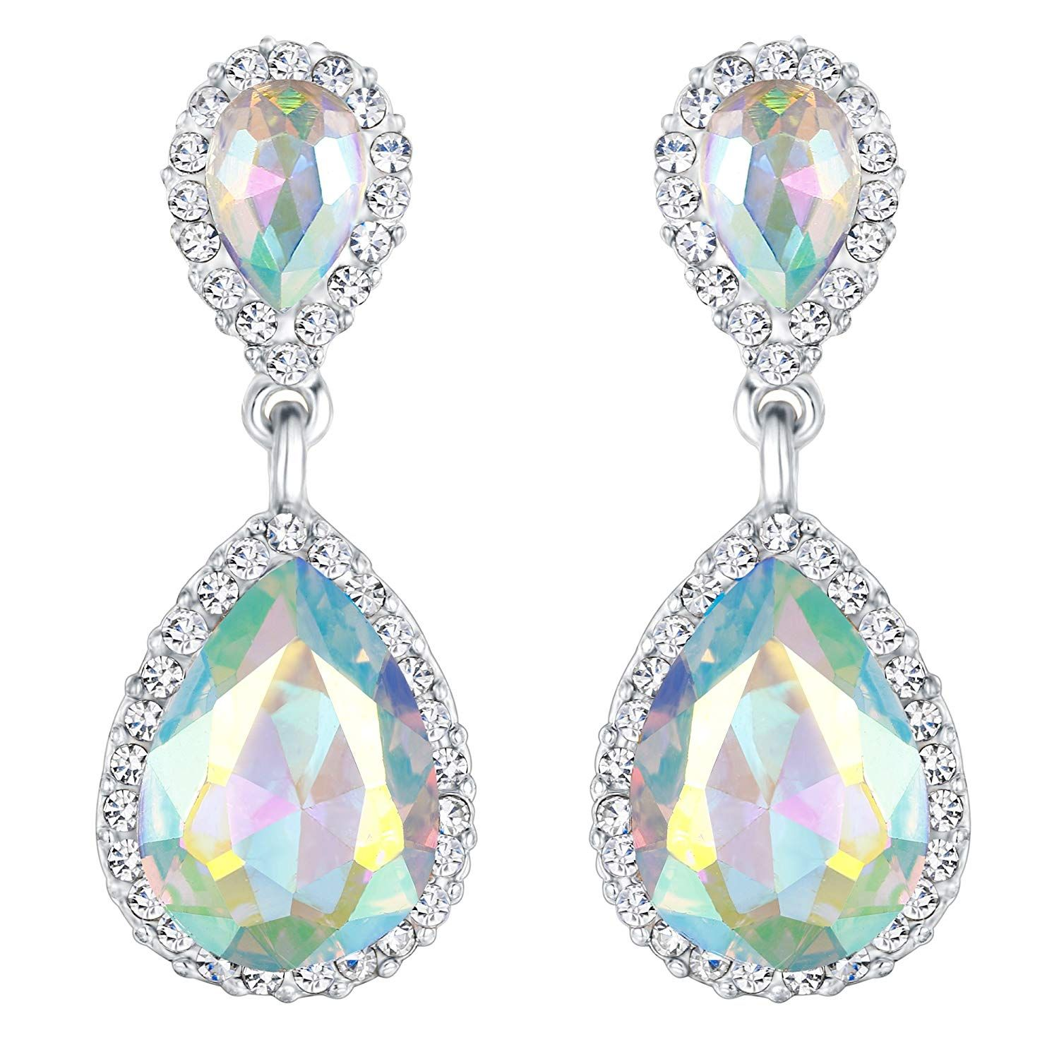 Miss Kiss Statement Blue Alloy Dangle Drop Earrings Jewelry for Women and Girls