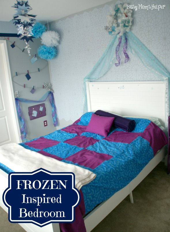 frozen inspired bedroom busy s helper frozen