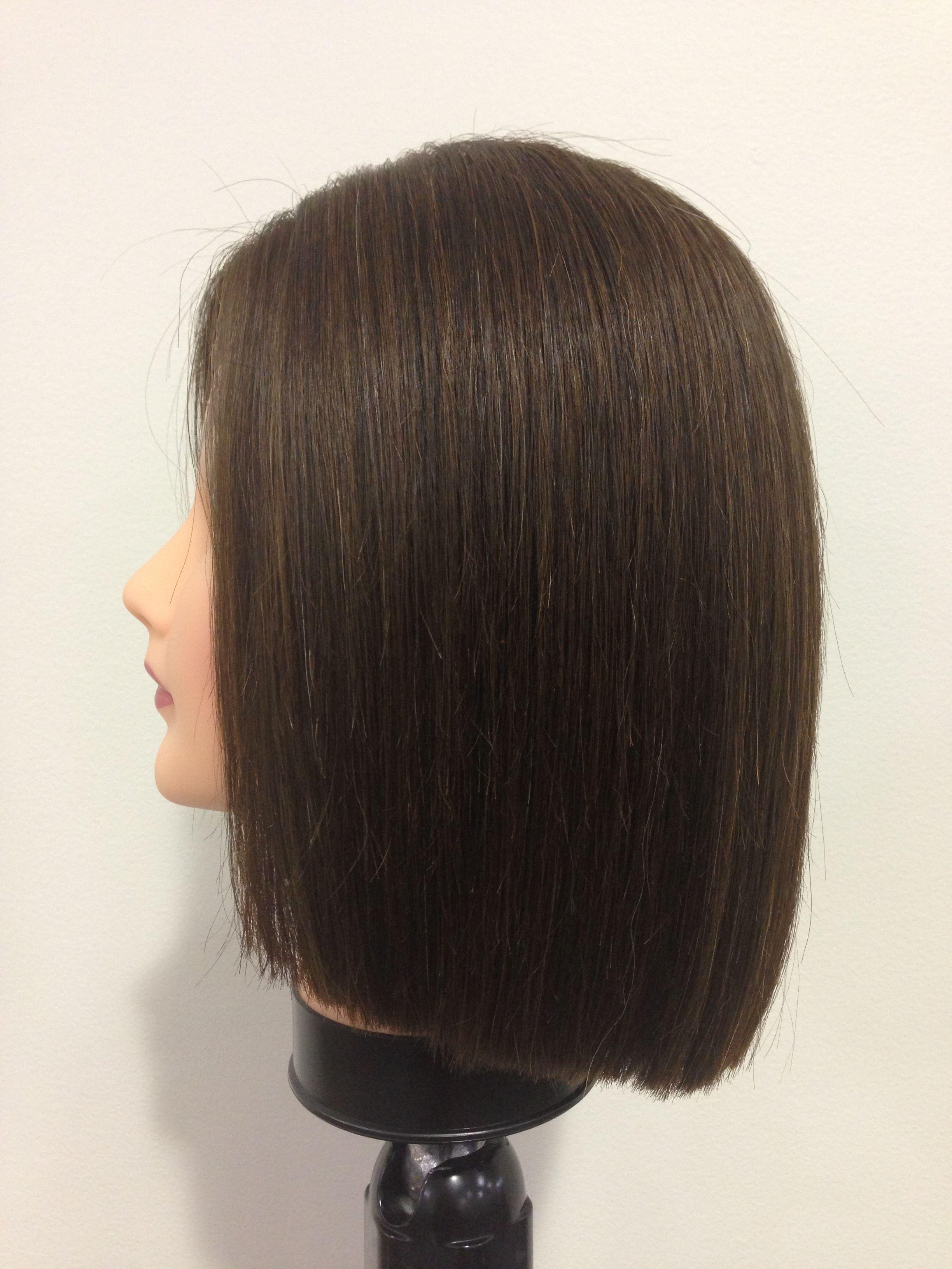 Round One Length Angela Raderchak One Length Haircuts Haircut Types One Length Hair
