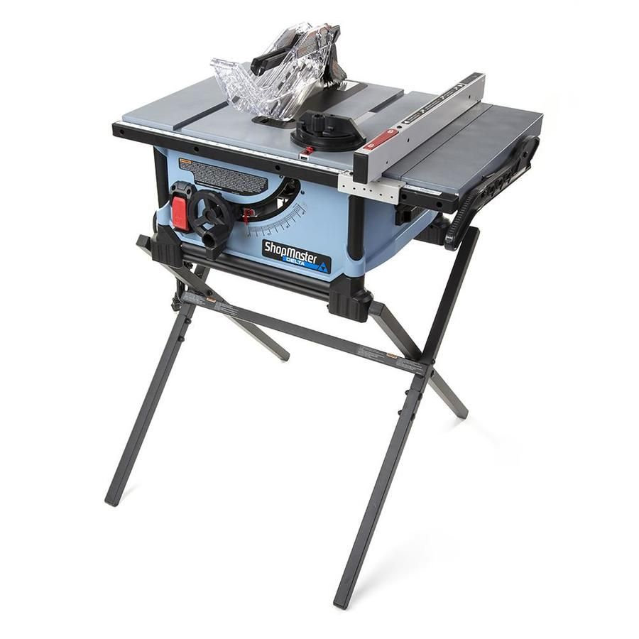 Delta Shopmaster 10 In Carbide Tipped Blade 15 Amp Portable Table Saw In 2020 Portable Table Saw
