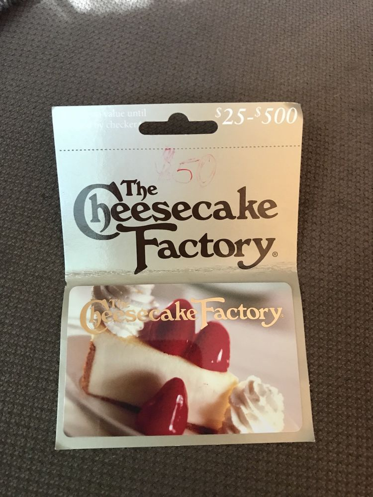 $50 Cheesecake Factory Gift Card - Full Value