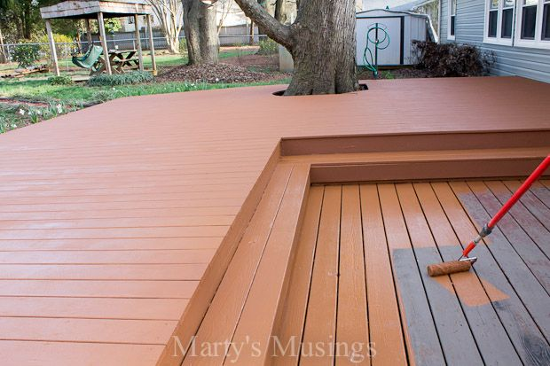 Wood Deck Restoration With Behr Deckover For The Home