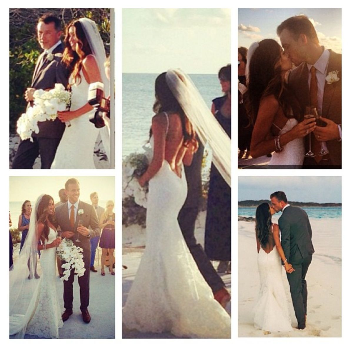 Mikala\'s stunning beach wedding in a Katie May Bridal Gown. She is ...