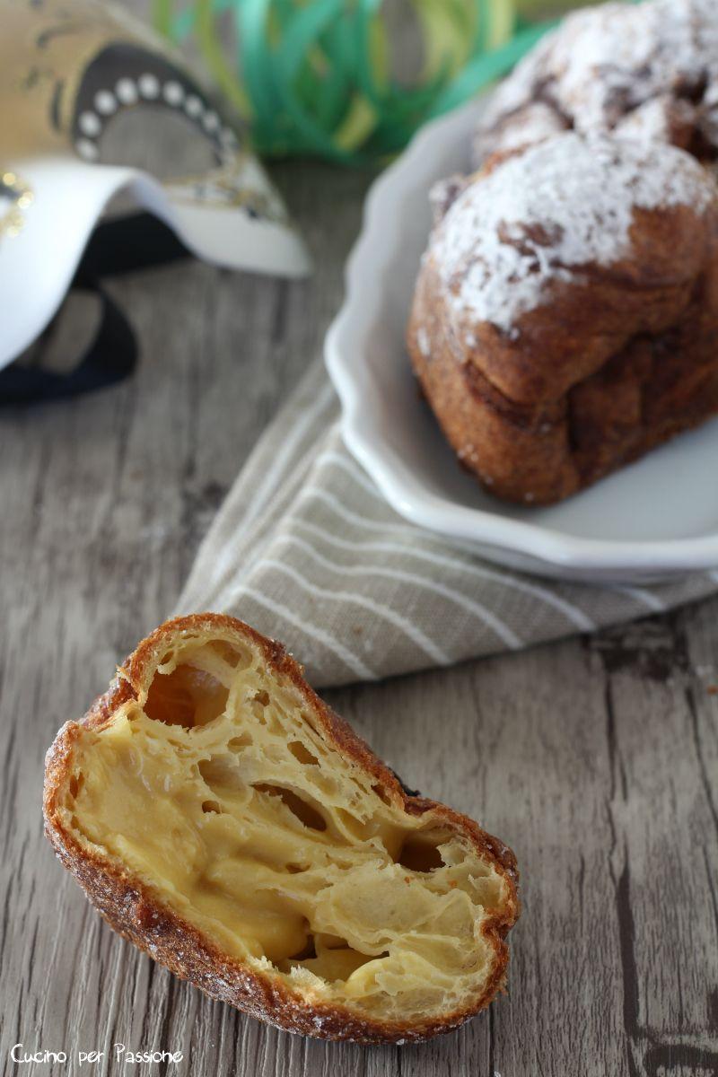RICETTA FRITTELLE RIPIENE senza lattosio ricetta per carnevale, carnevale  ricette, frittelle ricette, giallo