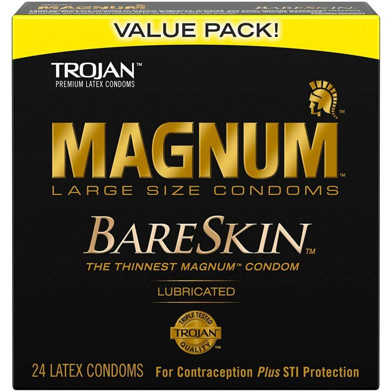 Ice Fire Trojan Bareskin Mangum Lubricated Condoms Trojan Condoms Condoms Magnum Bareskin