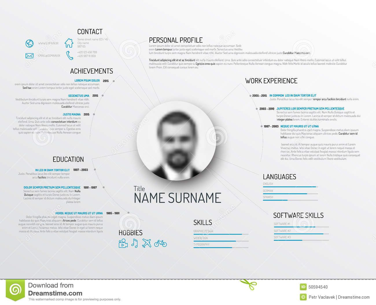 Pin By Charlotte Poulsen On Cv    Cv Resume Template
