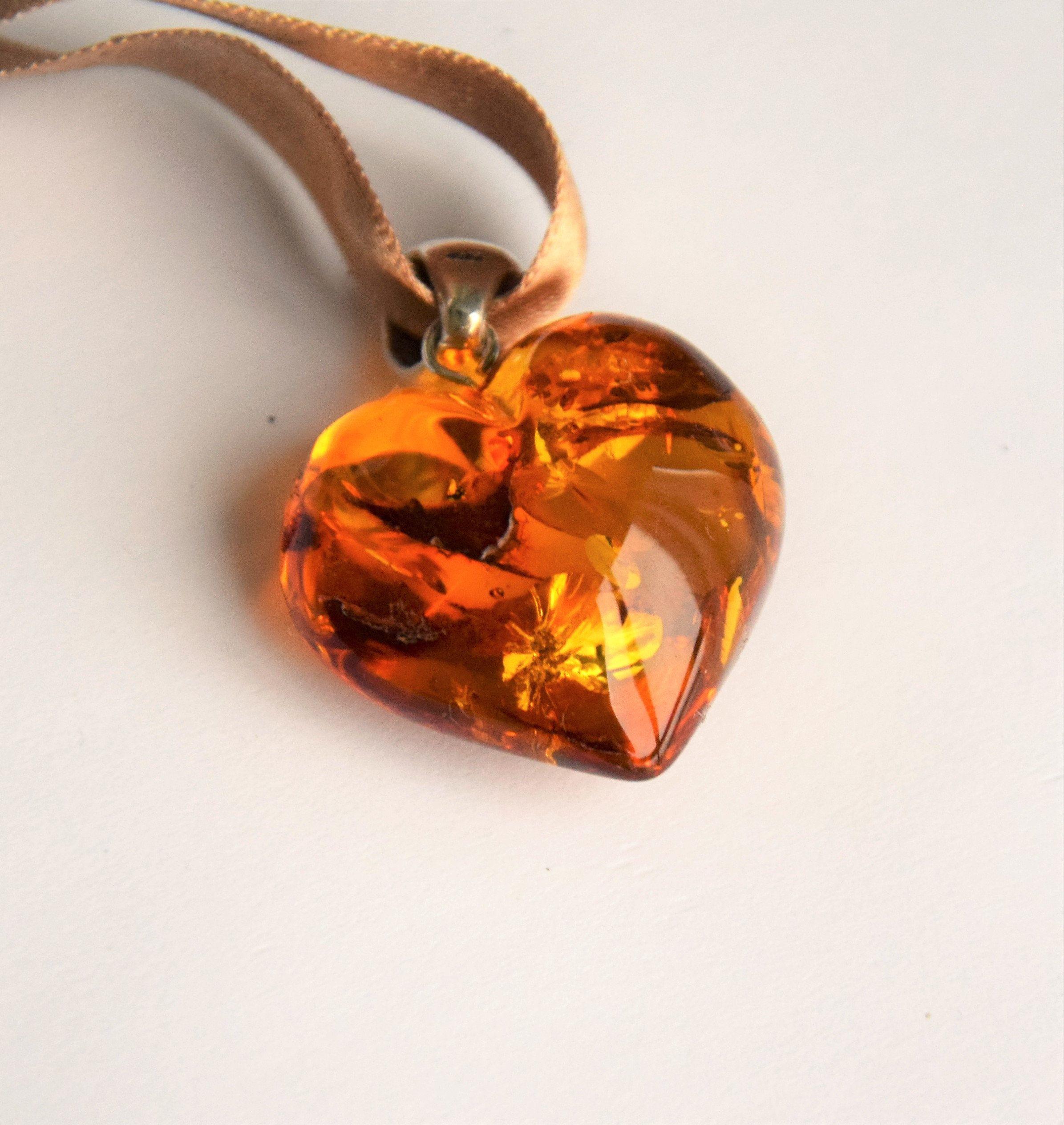 Viking Amber Pendant Sterlig Silver /& Natural Baltic Amber