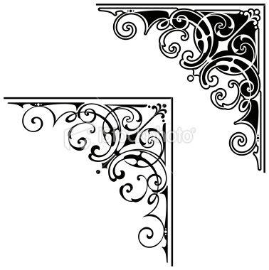 scrolled corners | Scroll Art Design Royalty Free Stock Vector Art Illustration - NeoXue ...