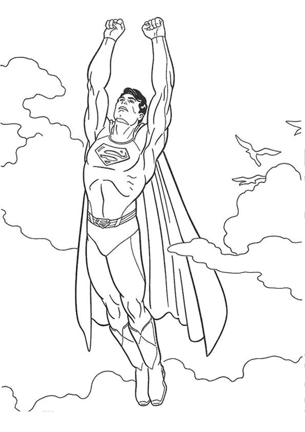 Print Coloring Image Momjunction Superman Coloring Pages Cartoon Coloring Pages Coloring Pictures