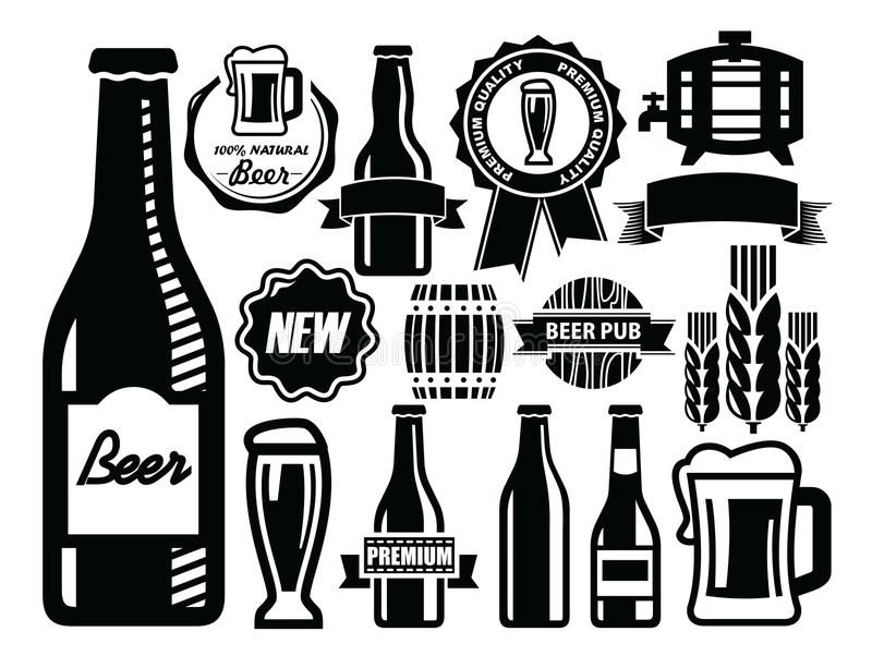Beer Icon Vector Black Beer Icon Set On White Sponsored Vector Icon Beer Black White Ad Beer Images Beer Icon Beer Clipart