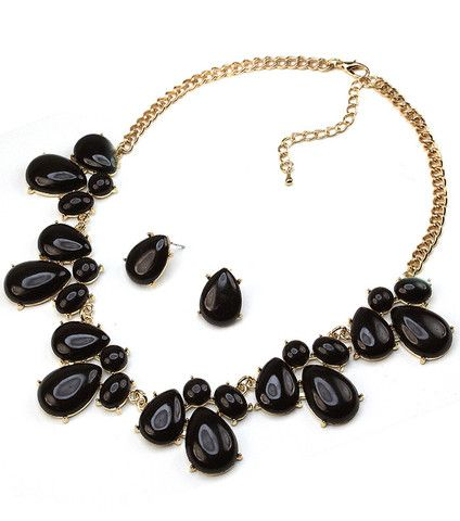 Adorn By LuLu  Teardrop Black Necklace U2013 Shop LuLu
