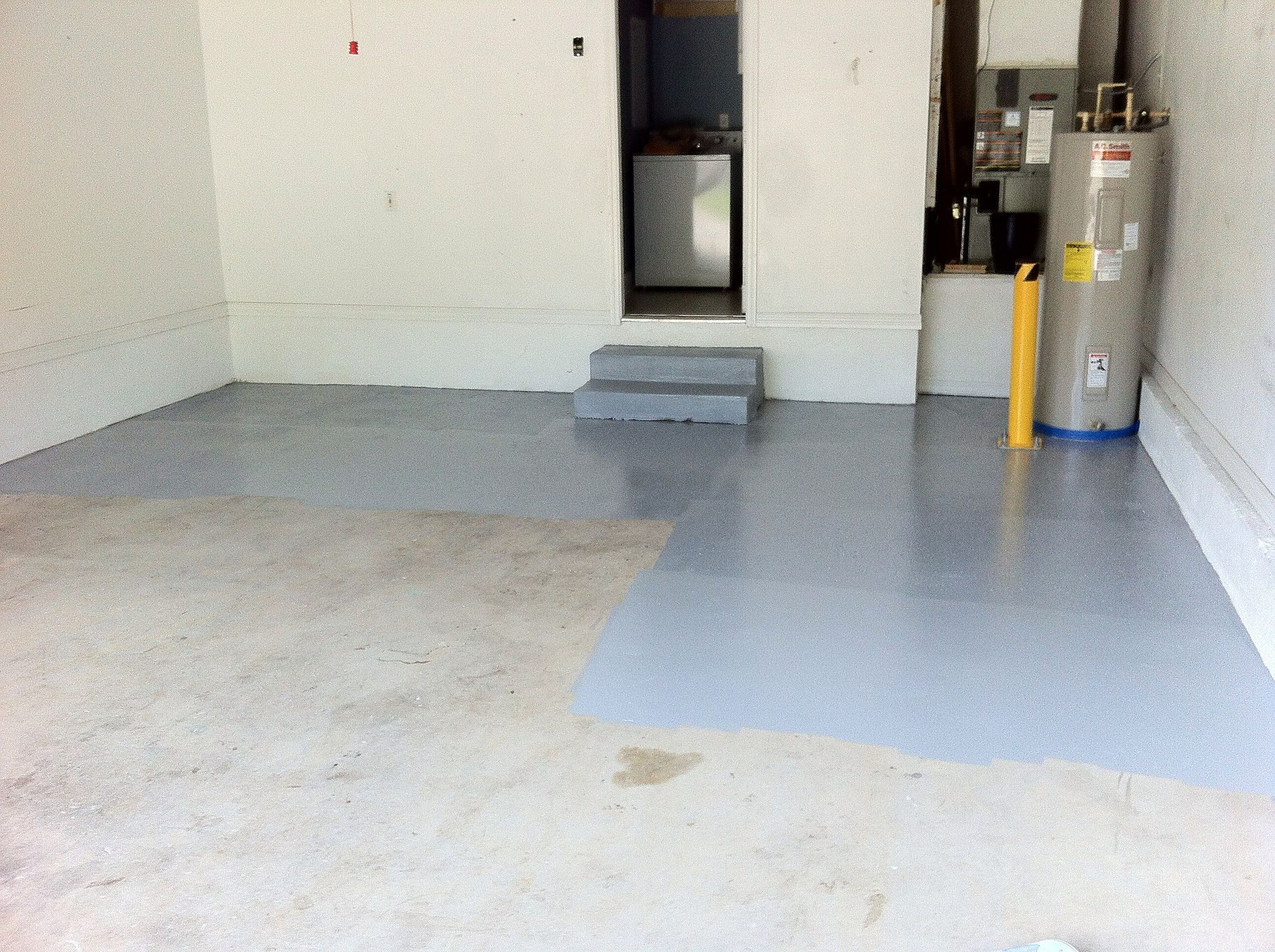 How To Prep A Garage Floor And Apply Epoxy Garage Floor Epoxy Painted Concrete Floors Garage Floor Coatings