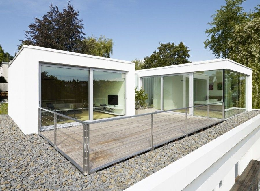Room House S Two Storey Bungalow Features Green Rooftop Garden Modern Design Ideas