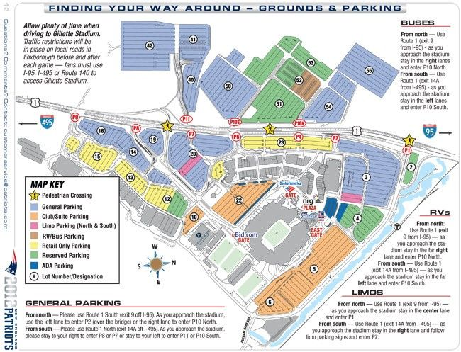 Stadium Maps | New England Patriots, Gillette Stadium, One Patriot ...